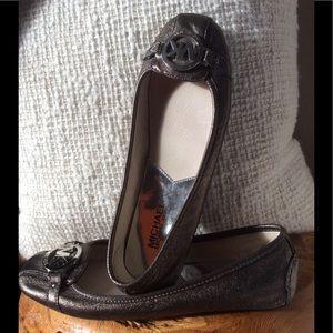 Michael Kors Metallic Leather Moccasin 8 1/2